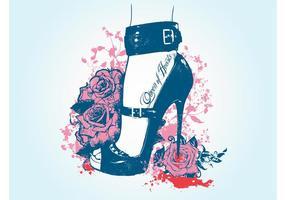 Foot Tattoo Vector