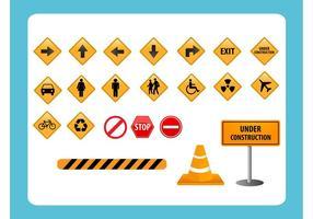 Vecteurs de signes de direction routière