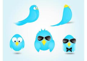 Blue Bird Cartoon Vectors