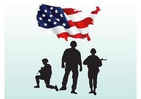 Vectores de los soldados estadounidenses