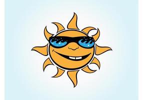 Vektor Cartoon Sonne