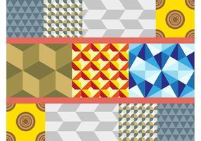 Padrões geométricos coloridos