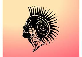 Mohawk Girl Vector Design