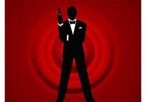 Agente 007 vector