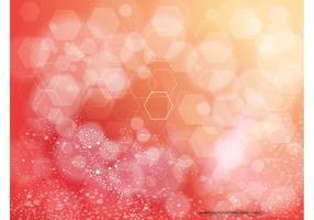 Orange-background-hexagon-design