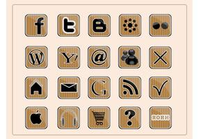 Sociala webb ikoner