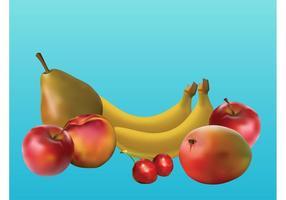 Frutas vectoriales realistas