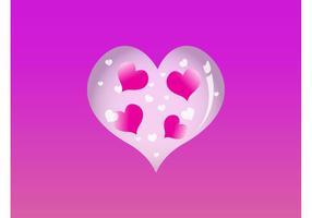 Glänzendes Vektor Herz