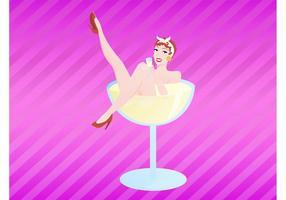 Champagner Mädchen