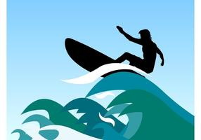 Surfer Golven Vector