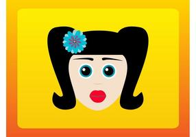 Retro Cartoon Girl