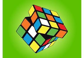 Rubik kubus vector