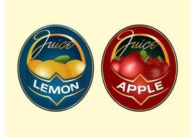 Etiquetas de fruta