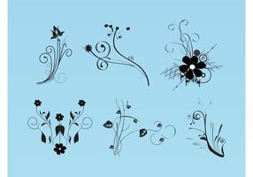Schöne Blumen Vektor Bilder