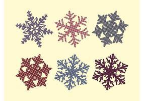 Stoff Schneeflocken