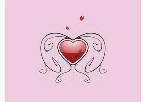 Sårad hjärtat vektor design
