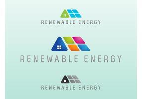 Logo del vector de energía renovable