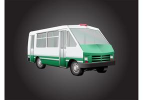 Vetor de ônibus 3d