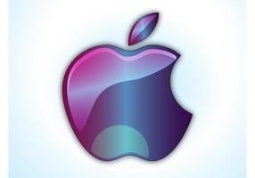 Logotipo brilhante da Apple