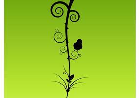 Pflanze mit Vogel