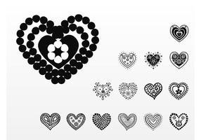 Schöne Herzen Vektoren