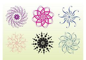 Blommiga rosetter