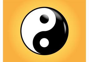 Shiny Yin Yang Vector