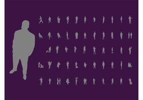 Aktive Menschen Silhouetten
