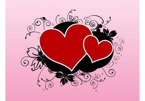 Vetor de tatuagem dos corações