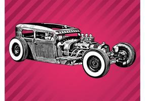 Vintage Car Sketch