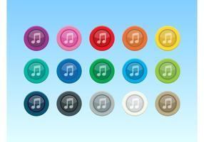 Icônes de musique colorées