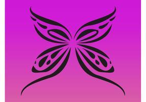 Einfache Schmetterling Tattoo