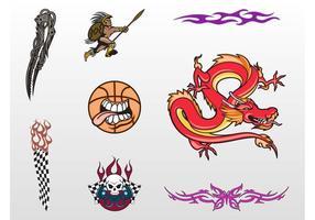 Cool Tattoo Designs Vektor