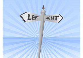 Links rechts teken