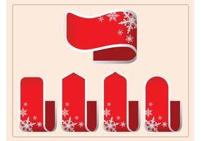Vector des rubans de Noël