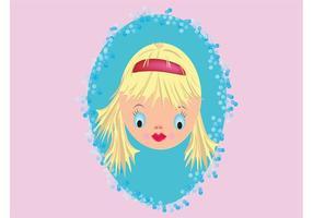 Joli visage de poupée