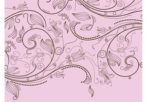 Stilisiertes Blumenmuster