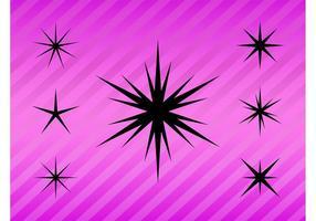Stiliserad stjärnor packa