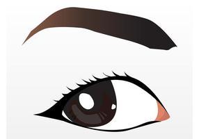 Ganska brunt öga