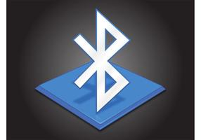 Icono de bluetooth vector