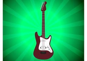Vector de guitarra elétrica