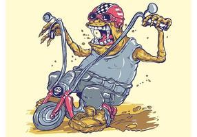 Monster auf Fahrrad