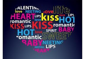 Typography Heart