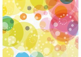Círculos de colores de fondo Vector