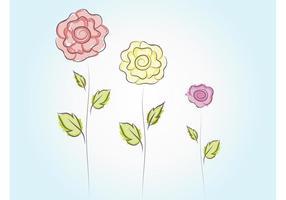 Nette Vektor Blumen
