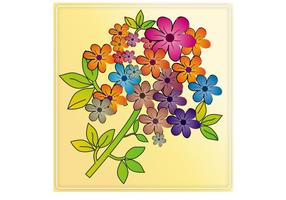 Teja colorida de las flores