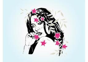 Vrouw Met Bloemen