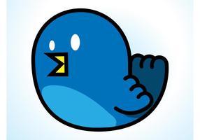 Blauer Vogel Vektor