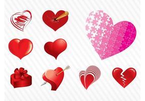 Vektor Herzen