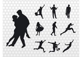 Vecteur de silhouettes de personnes